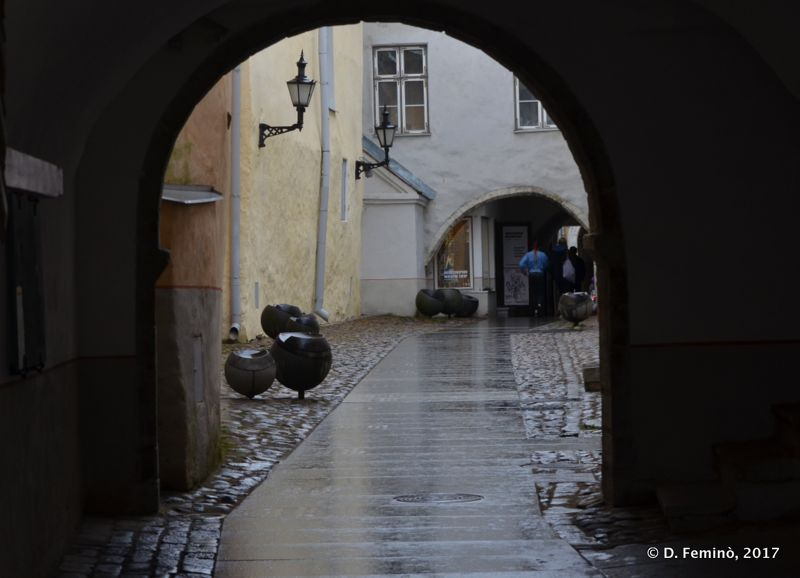 Rain in old town (Tallinn, Estonia, 2017)