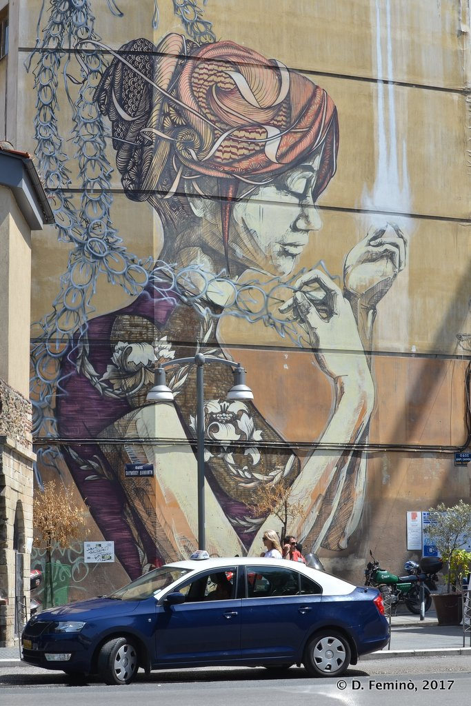 Thessaloniki, Greece, Murales downtown
