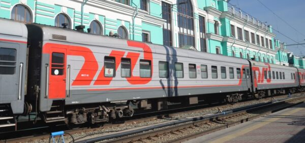Train in Omsk station