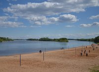 Beach on Volkhov river