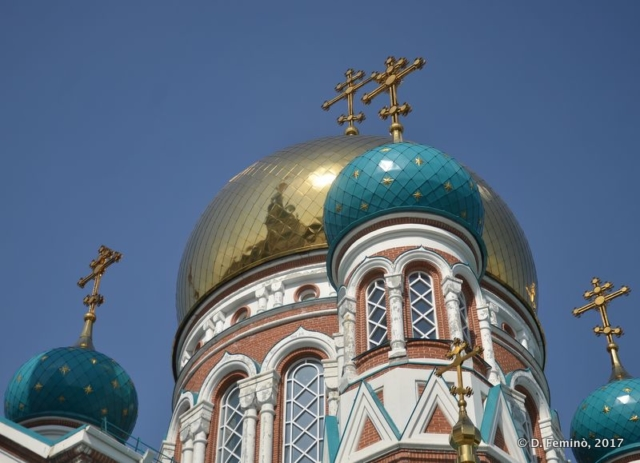 Domes of Dormition Cathedral (Omsk, Russia, 2017)