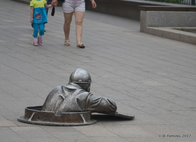 Monument to Stepan the plumber (Omsk, Russia, 2017)