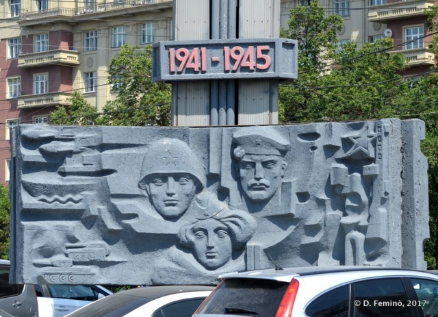 Monument to fallen of WWII (Novosibirsk, Russia, 2017)
