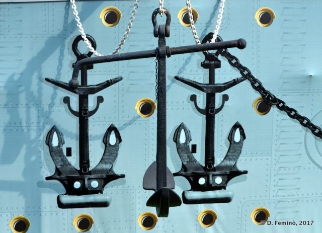 Anchors of Sv.Nikolay ship (Krasnoyarsk, Russia, 2017)