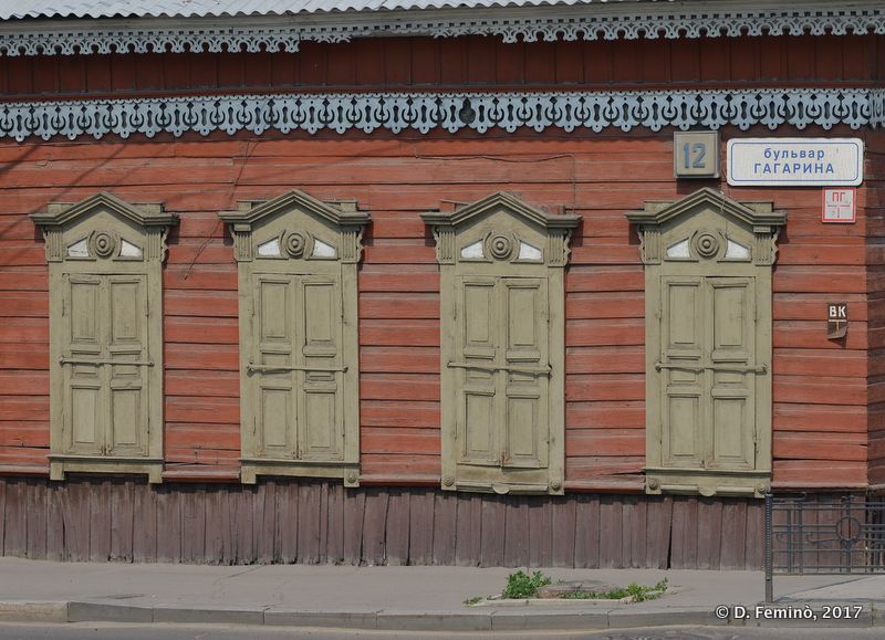 A timber building (Irkutsk, Russia, 2017)