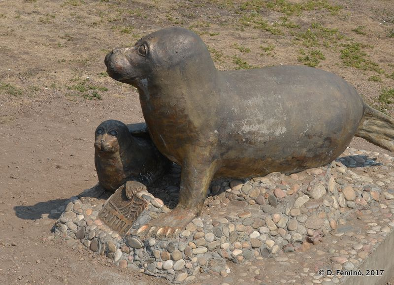 Monument to a seal (Irkutsk, Russia, 2017)