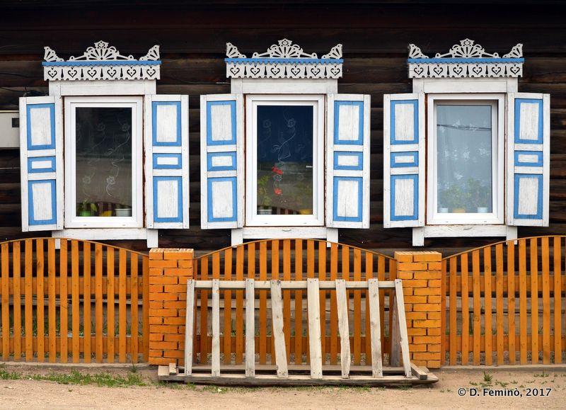 Wooden windows (Khuzhir, Russia, 2017)