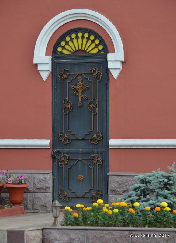 Door in Kazan church (Irkutsk, Russia, 2017)
