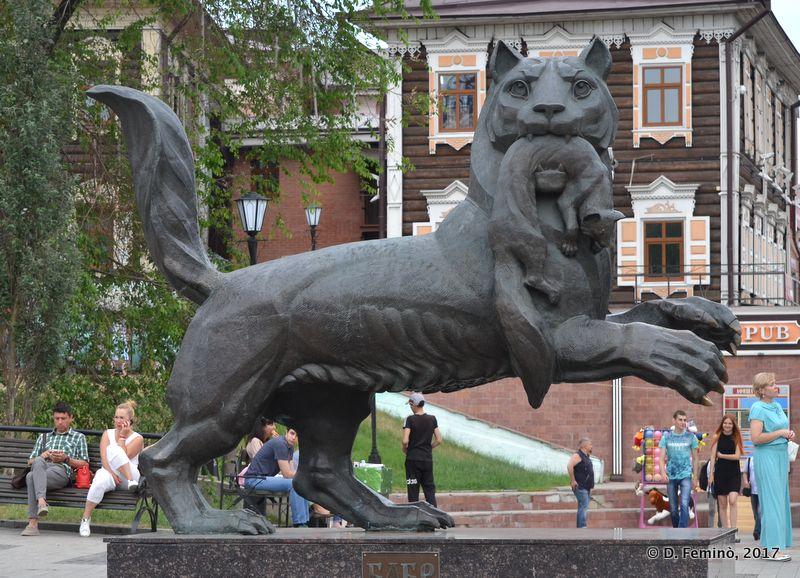 Statue of Babr (Irkutsk, Russia, 2017)