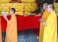 Monks during a ceremony