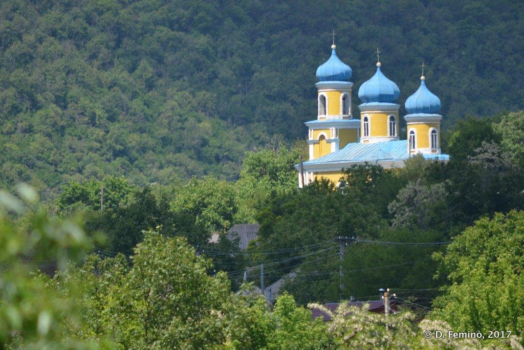 Trebujeni, Moldova, Church on the hill