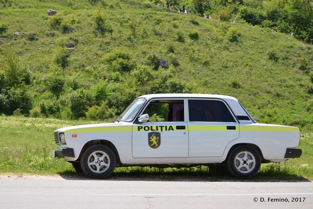 Butuceni, Moldova, Police car