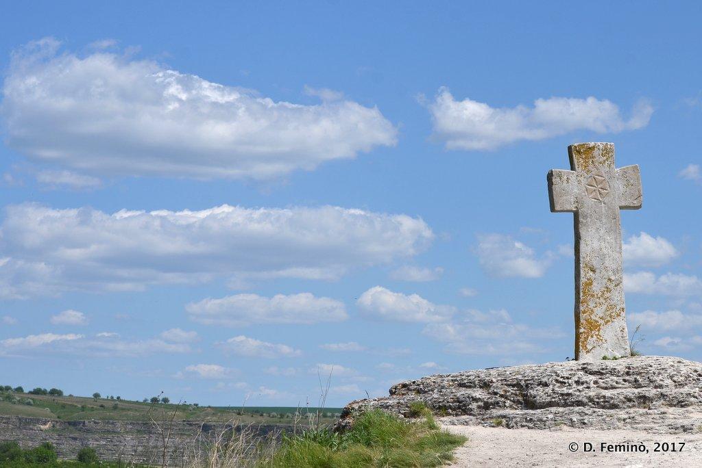 Orheiul Vechi, Moldova, Cross at monastery
