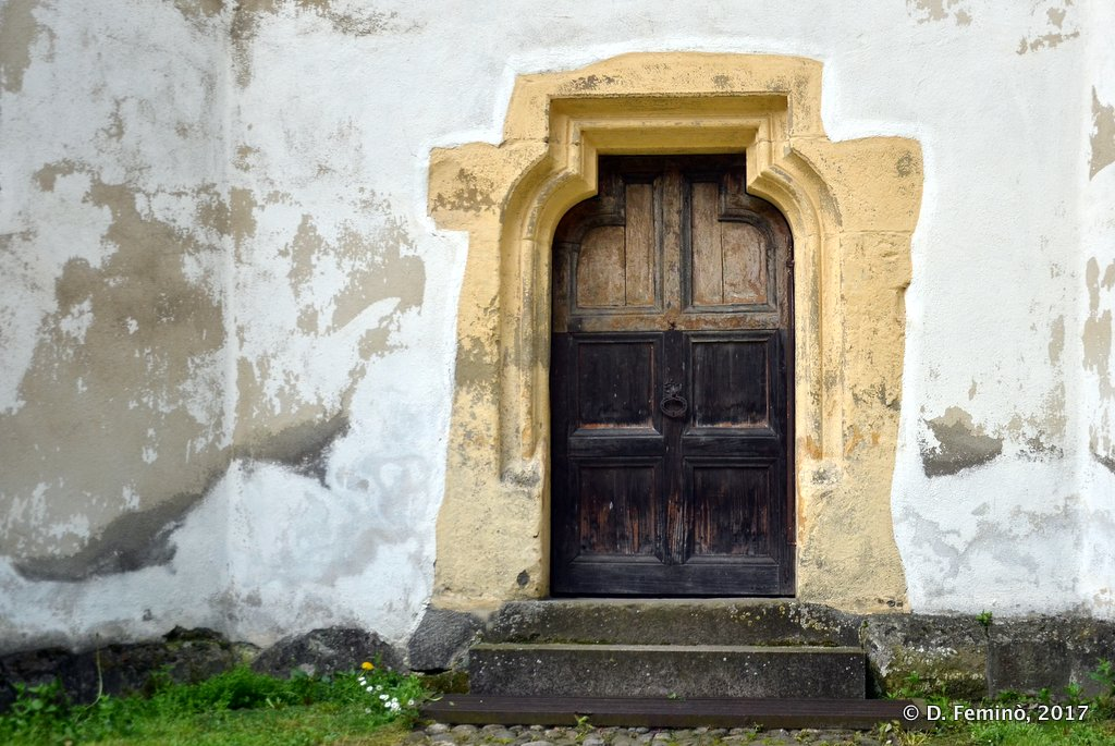 Prejmer, door in the fortified church
