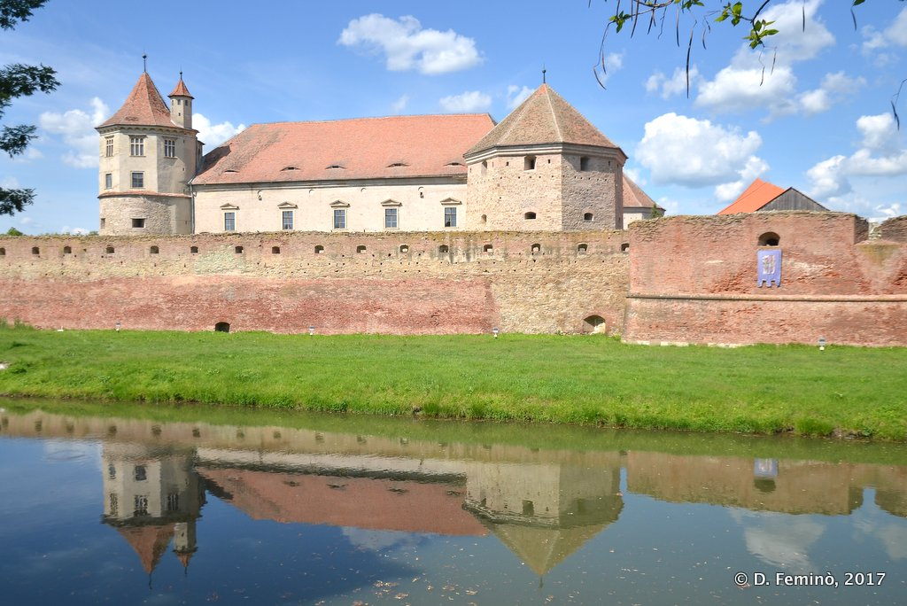 Făgăraș, reflections of the citadel