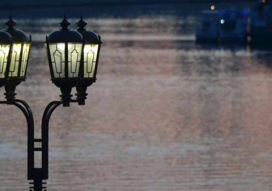 Lamp on Tura riverside