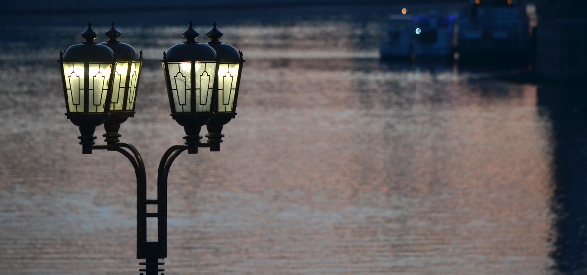 Lamp on Tura riverside