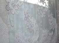 The curtains in the restaurant