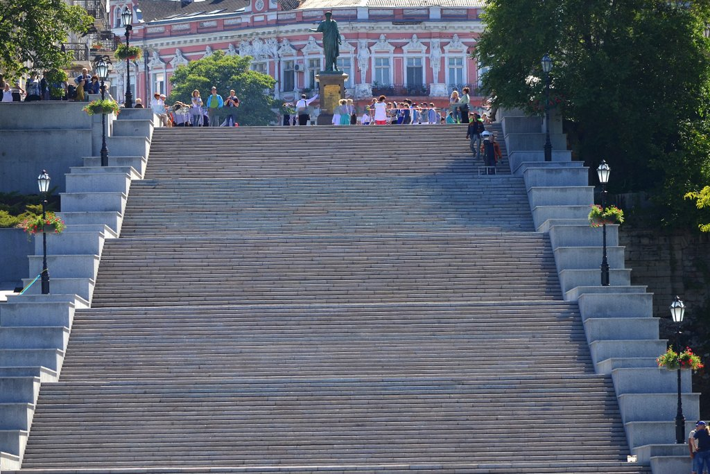 Odessa, Unusually empty Potëmkin stairs