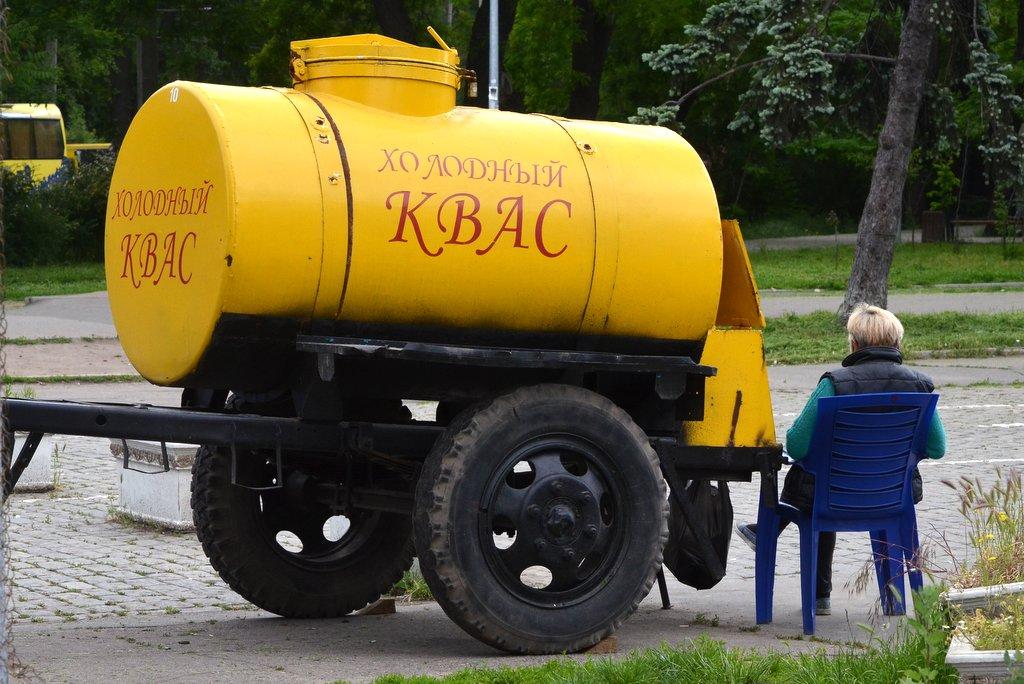 Odessa, Kvas seller at Railway Station