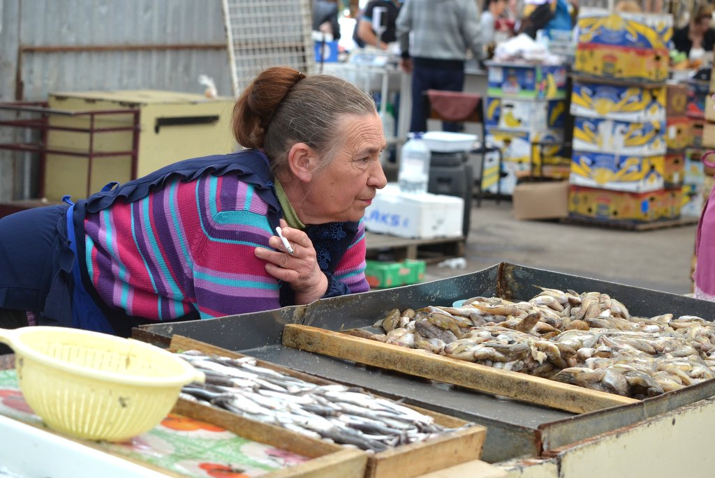 Odessa, Fish stalls at Privoz Market