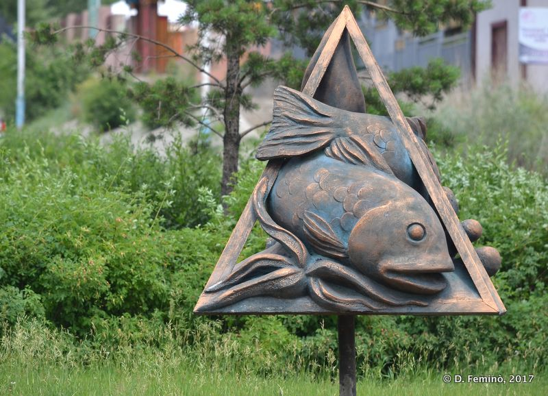 A fish in a triangle. Why? (Ulaanbaatar, Mongolia, 2017)