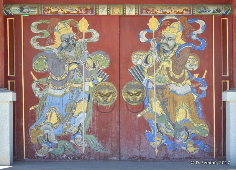 Beautiful door in palace of the Bogd Khan (Ulaanbaatar, Mongolia, 2017)