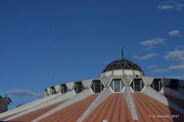 Wrestling palace roof (Ulaanbaatar, Mongolia, 2017)