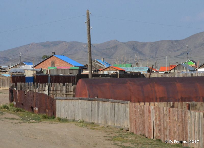 Houses in a small village (Mongolia, 2017)