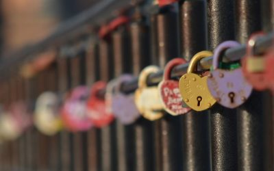 Love locks in Kazan
