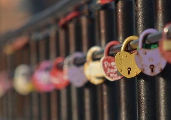 Love locks in Kazan