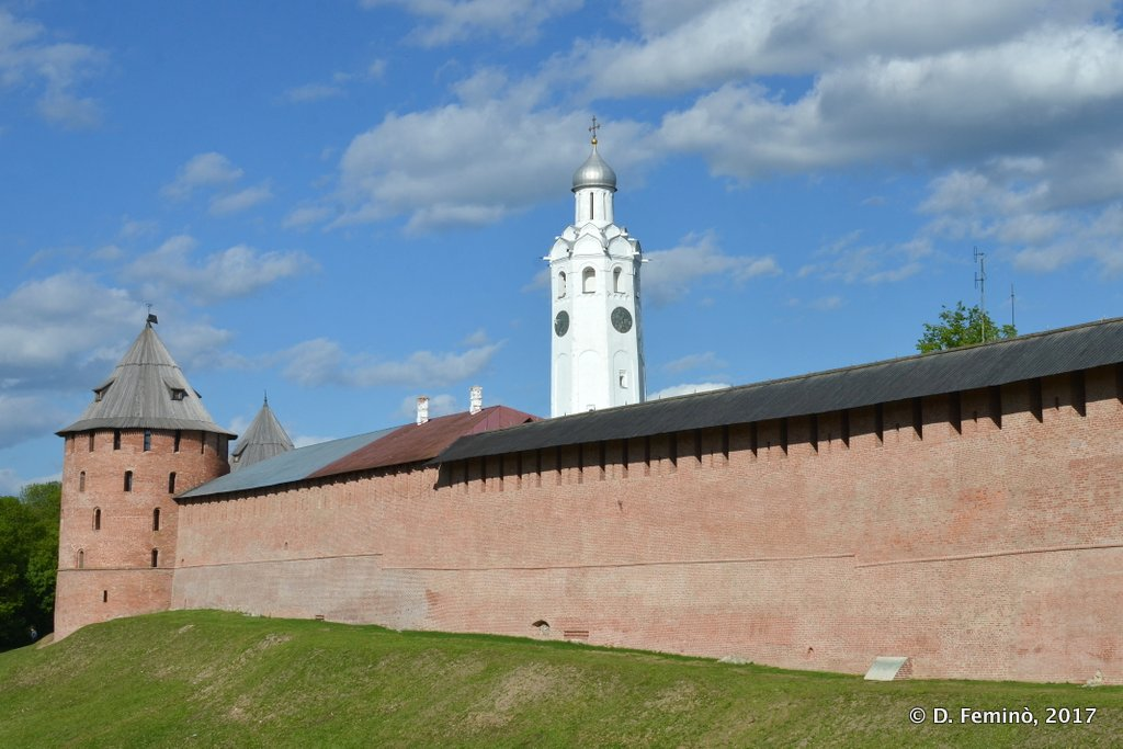 Veliky Novgorod, Wall of the Kremlin