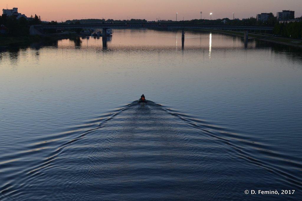 Veliky Novgorod, Sunset in river Volkhov