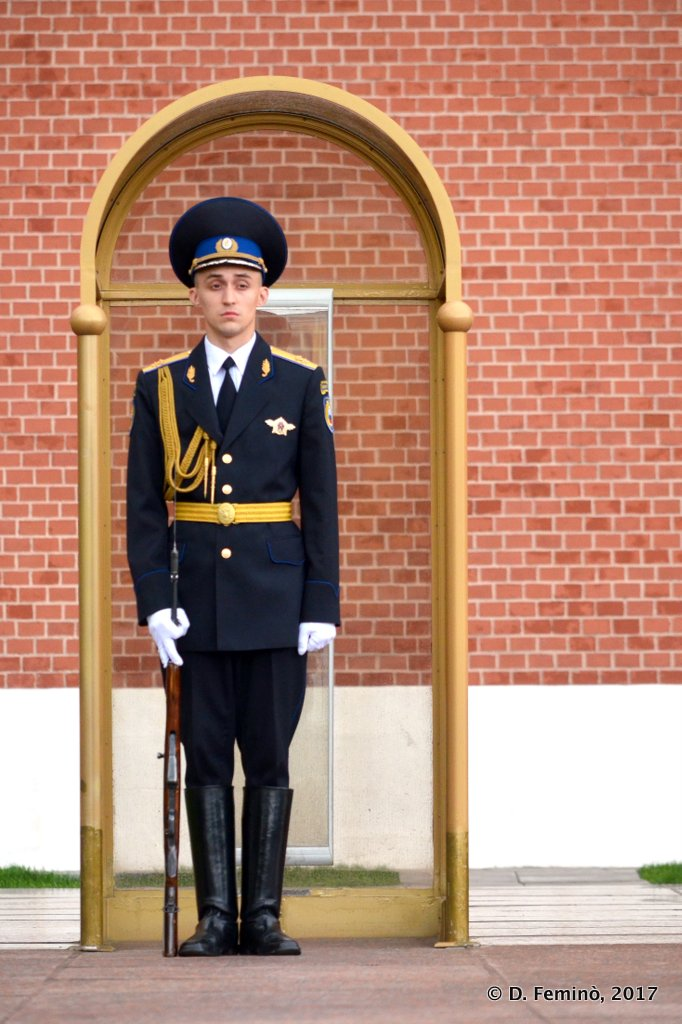 Moscow, Guard at Tomb of the Unknown Soldier