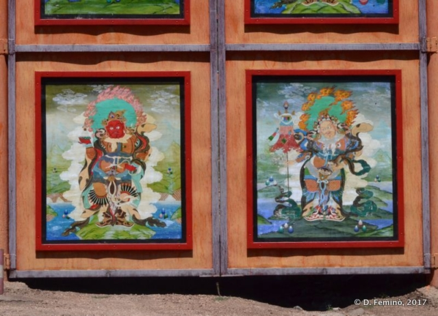 A decorated panel in the temple (Terelj Park, Mongolia, 2017)