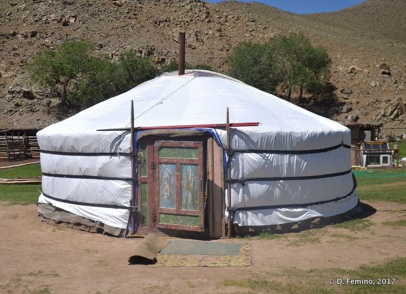 A ger or yurt (Terelj Park, Mongolia, 2017)