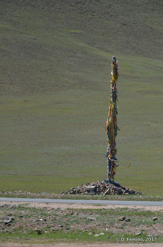 A lonely stele (Terelj Park, Mongolia, 2017)