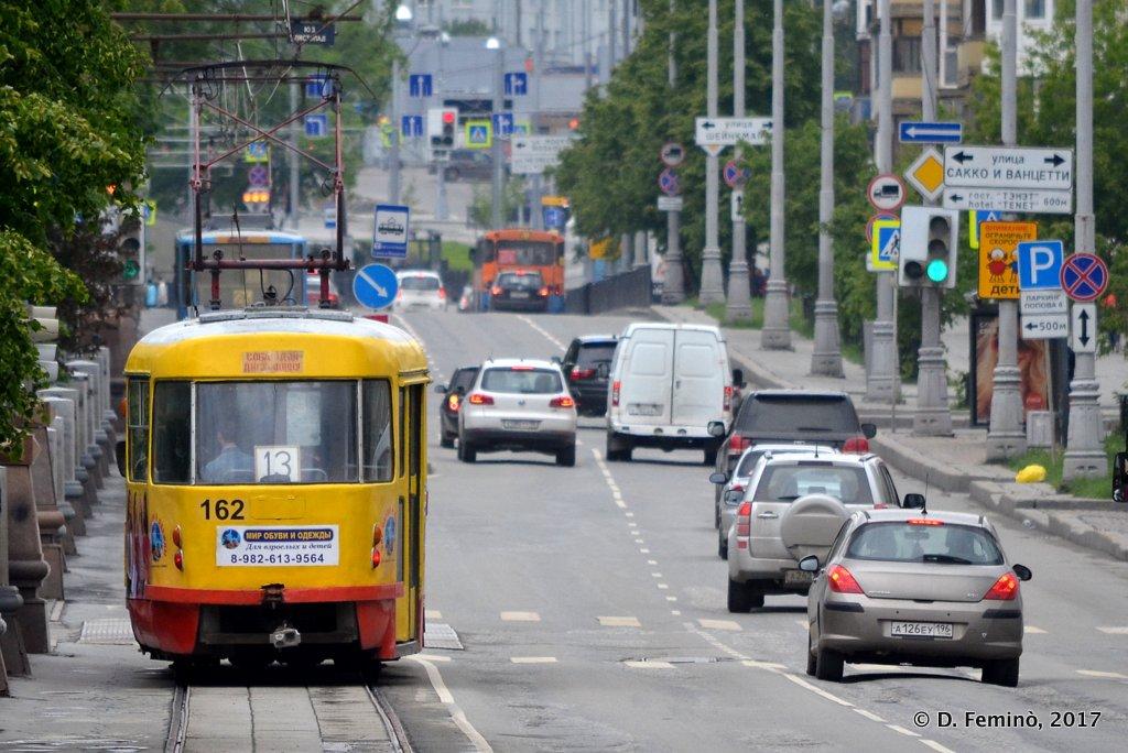Yekaterinburg, traffic downtown