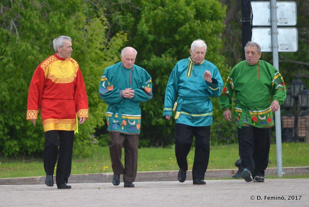 Tobolsk', men in traditional costumes