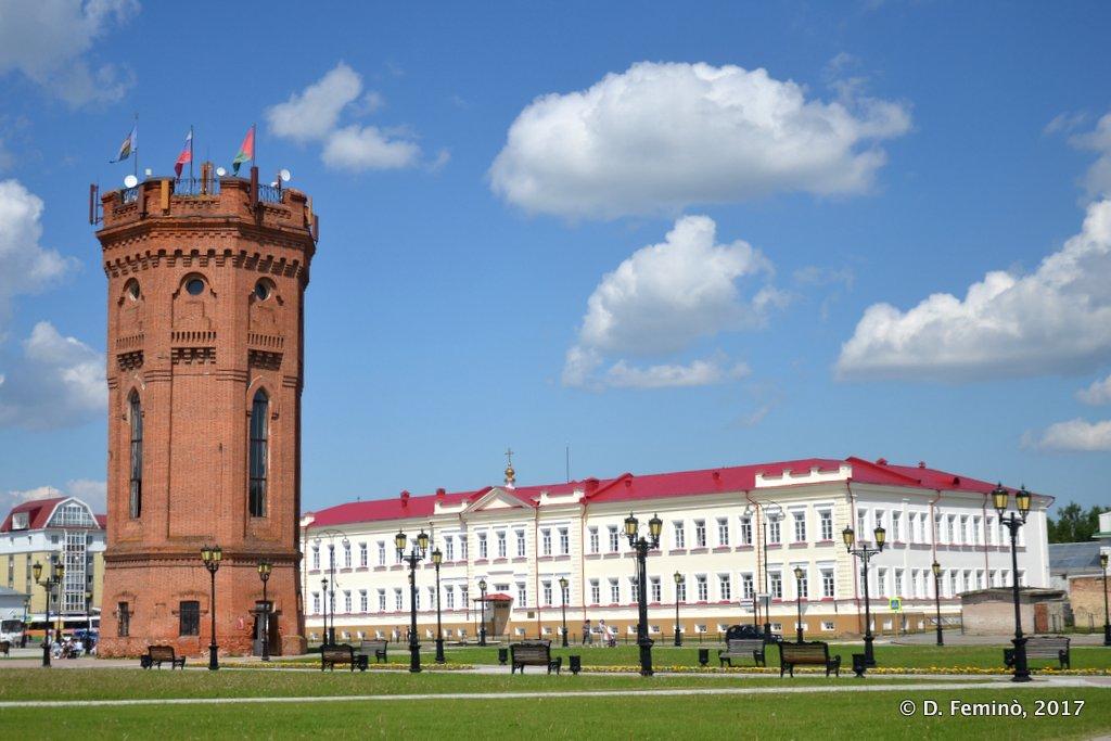 Tobolsk', water tower in Yershova Square