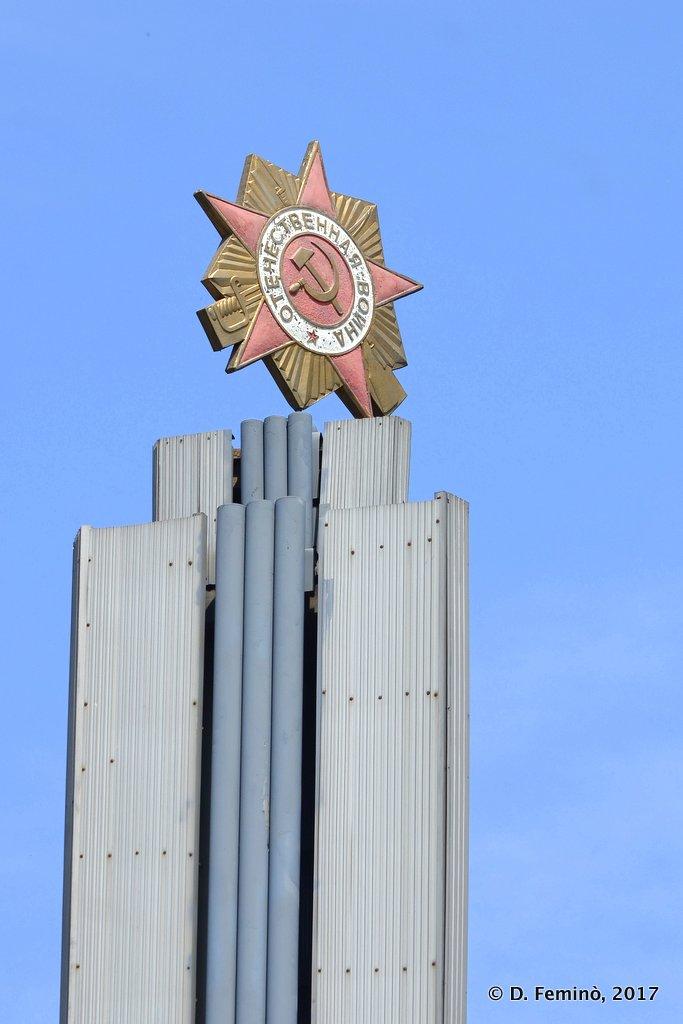 Novosibirsk, red star of communism still shining