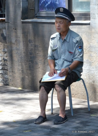 A policeman in summer uniform?