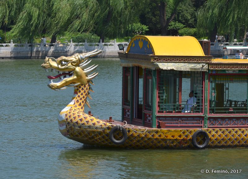 A dragon shaped boat