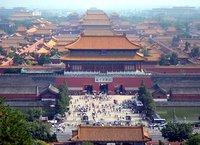 View of Forbidden City from Jingshan hill