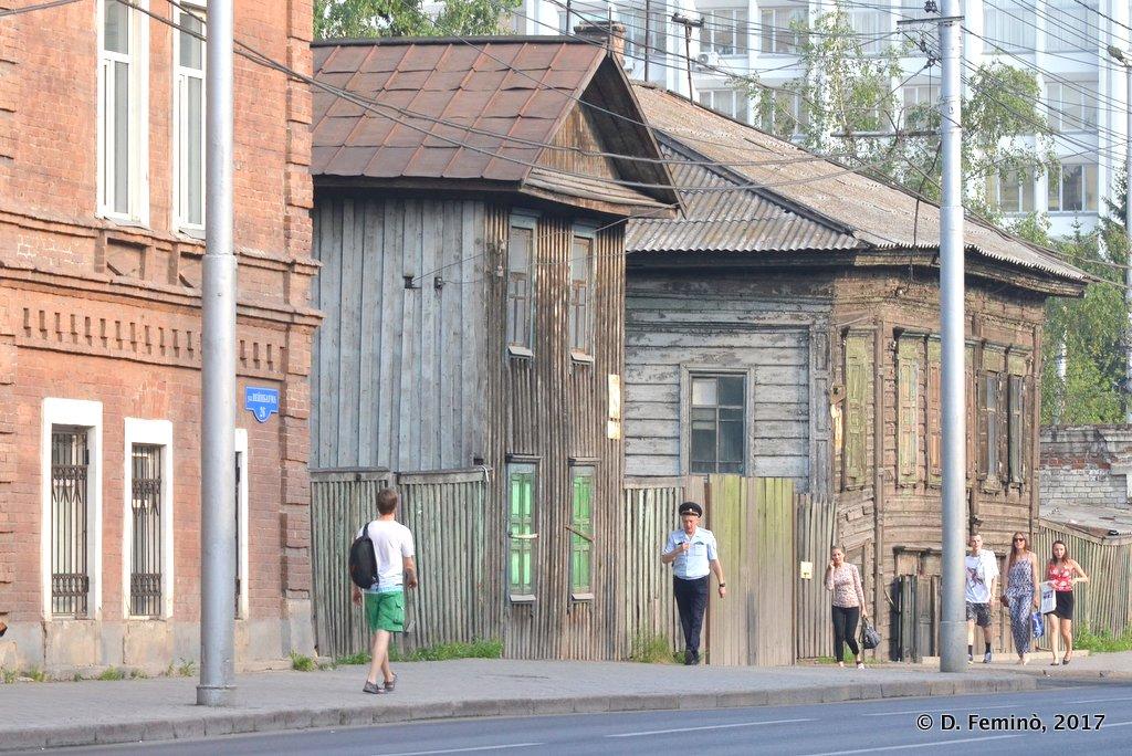 Krasnoyarsk, Wooden houses downtown