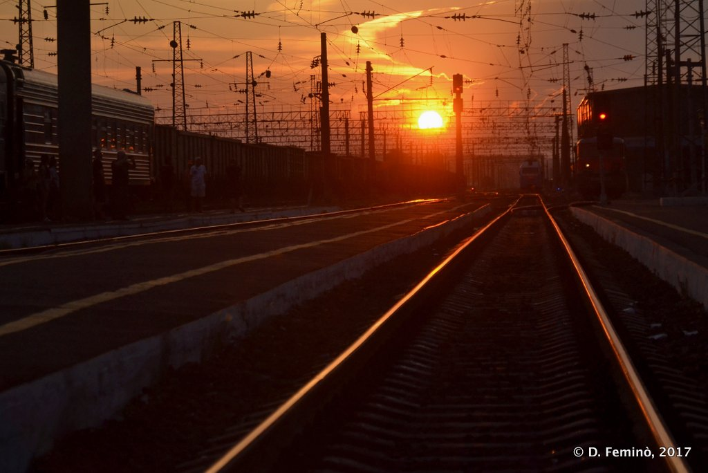 Nizhneudinsk, Sunset on the transiberian railway