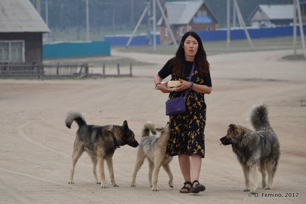 Khuzhir, Defending food from dogs