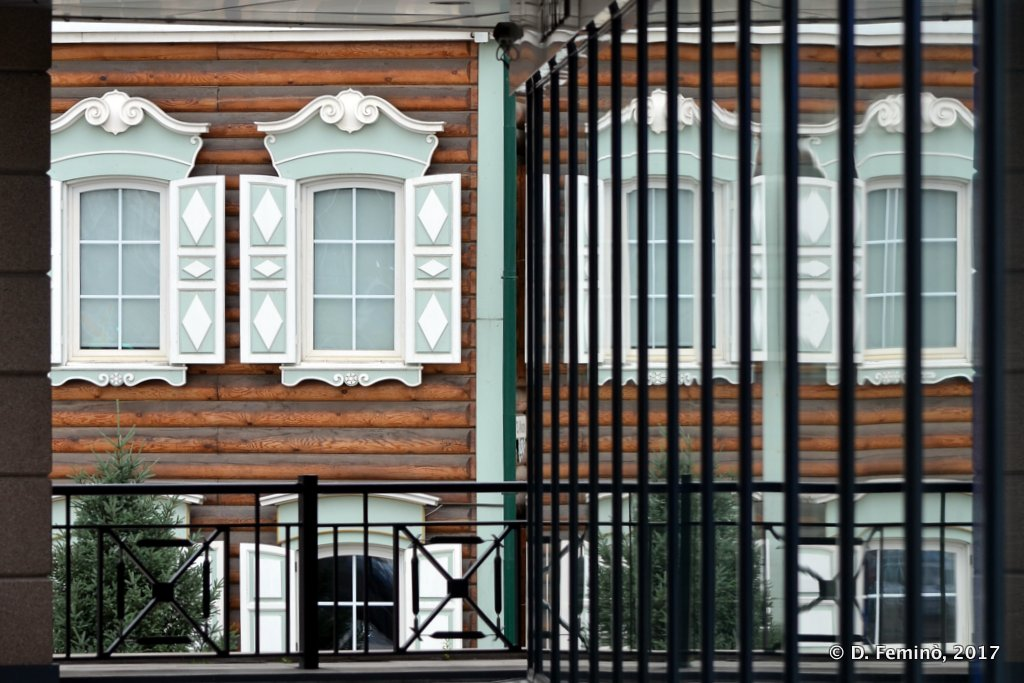 Irkutsk, Old house window reflection