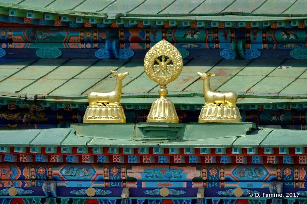 Ivolginsky Datsan, Deer on a temple
