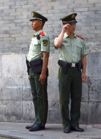 Soldiers in TienAnMen Square